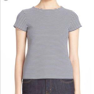 Theory - 'Laveneg' Stripe Stretch Cotton Top sz S